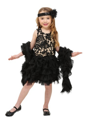 Click Here to buy Toddler Dazzling Flapper Costume from HalloweenCostumes, CDN Funds & Shipping