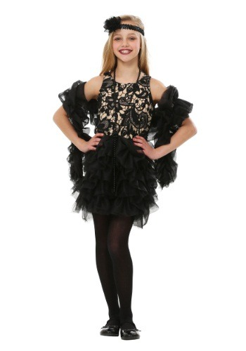 Click Here to buy Kids Dazzling Flapper Costume from HalloweenCostumes, CDN Funds & Shipping