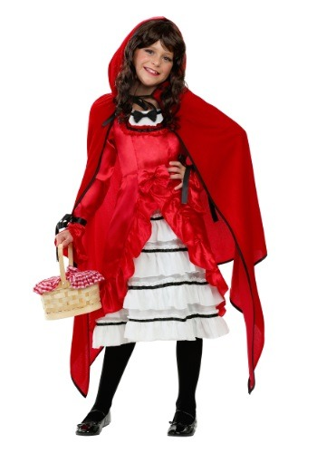 Child Fairytale Red Riding Costume