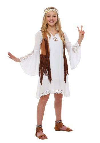 Girls Flower Child Size Costume