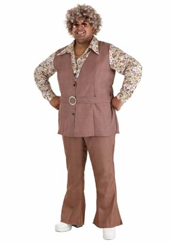 Mens Plus Size 70s Vest Costume