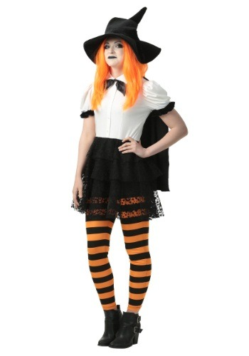 Click Here to buy Punky Candy Corn Witch Womens Costume from HalloweenCostumes, CDN Funds & Shipping
