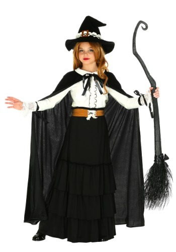 Click Here to buy Girls Salem Witch Costume from HalloweenCostumes, CDN Funds & Shipping