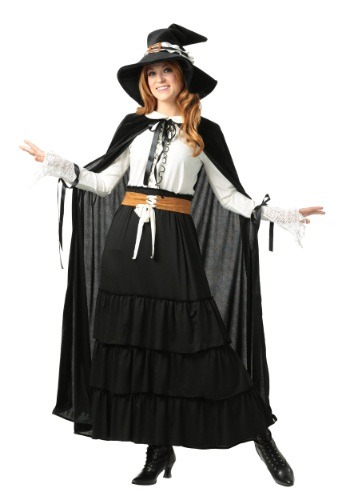 Click Here to buy Womens Salem Witch Plus Size Costume from HalloweenCostumes, CDN Funds & Shipping