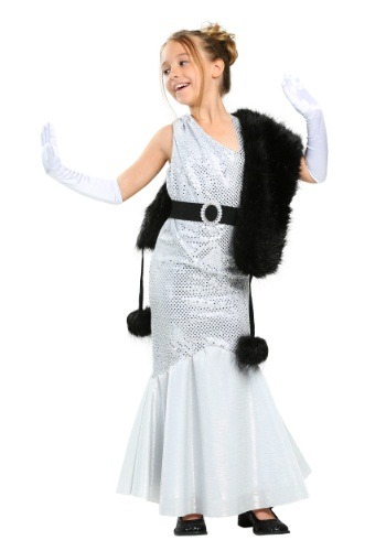 Click Here to buy Girls Silver Movie Star Costume from HalloweenCostumes, CDN Funds & Shipping