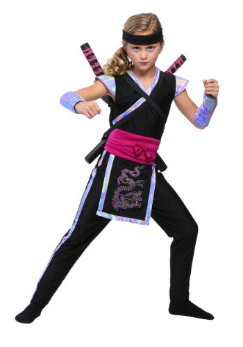 Rainbow Ninja Costume for Girls