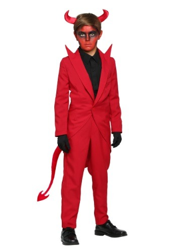 Click Here to buy Kids Red Suit Devil Costume from HalloweenCostumes, CDN Funds & Shipping