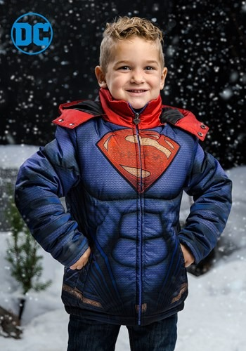 Kids Superman Puffer Jacket