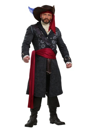 Blackbeard Costume for Plus Size Men | Mens Pirate Costume