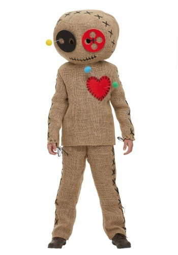 Click Here to buy Kids Burlap Voodoo Doll Costume from HalloweenCostumes, CDN Funds & Shipping