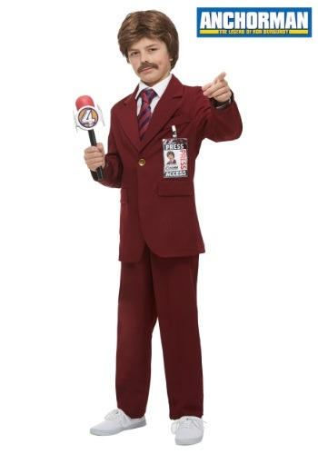 Child Anchorman Ron Burgundy Costume