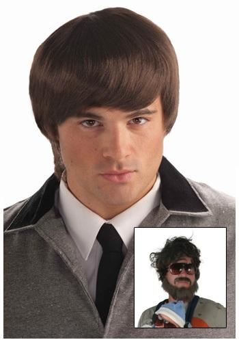 60s Mod Brown Mens Wig