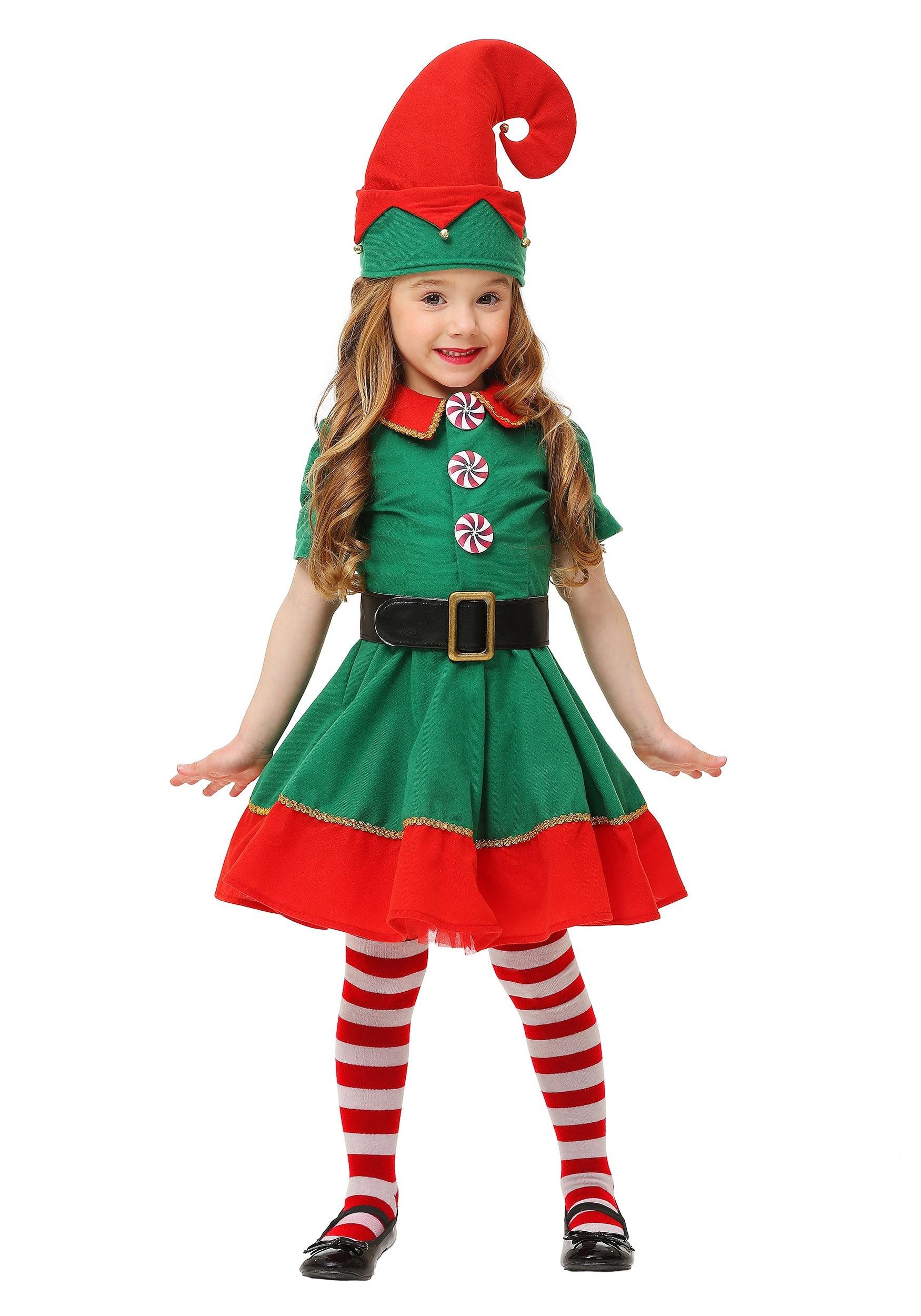 flatwhite Children Christmas Elf Costume