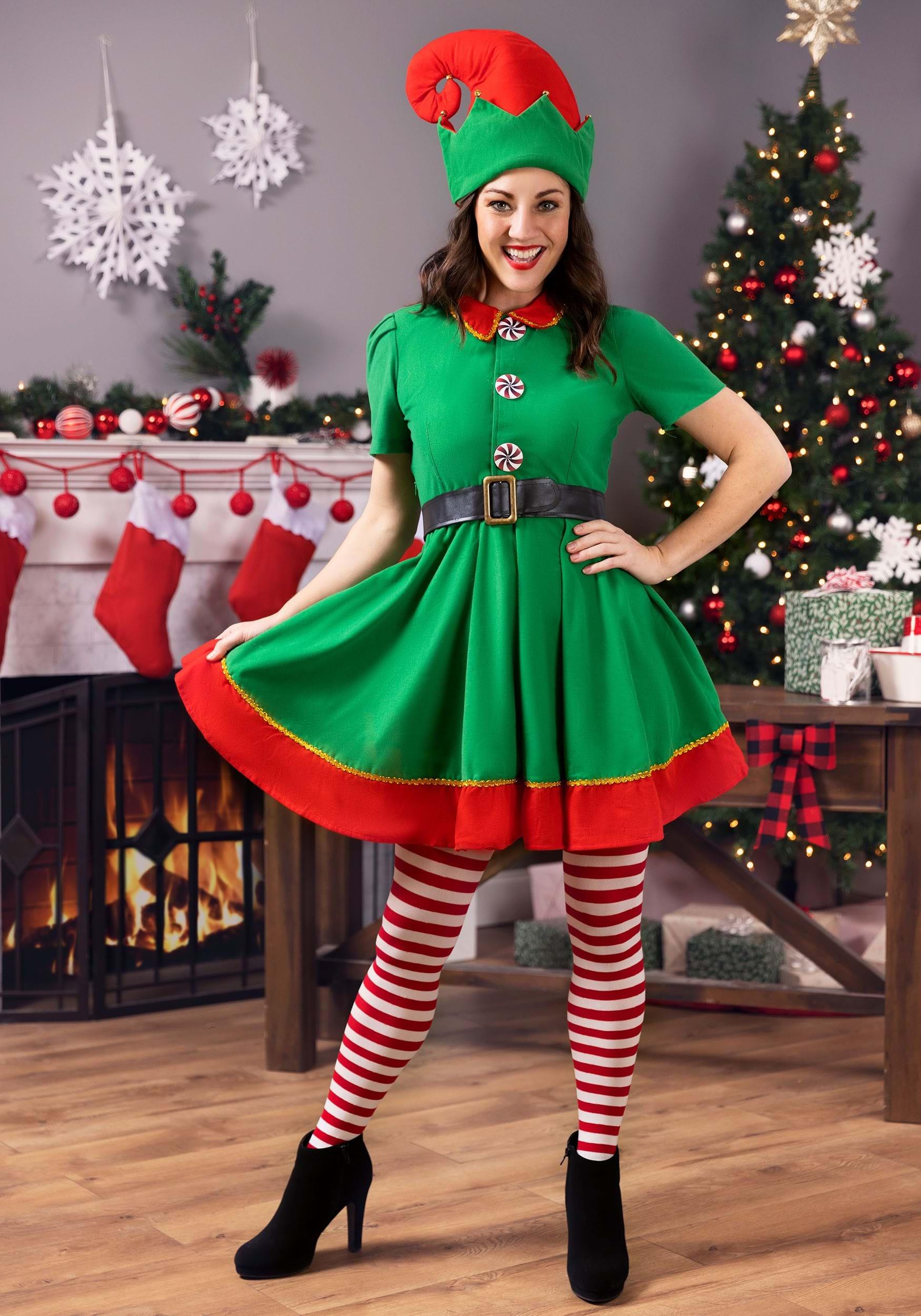 ed3fdce896cde Women s Holiday Elf Costume