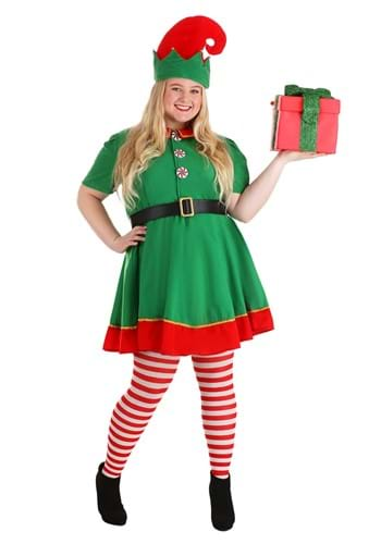 Click Here to buy Womens Holiday Elf Plus Size Costume from HalloweenCostumes, CDN Funds & Shipping