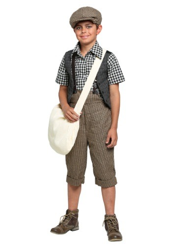 Kids 20s Newsie Costume