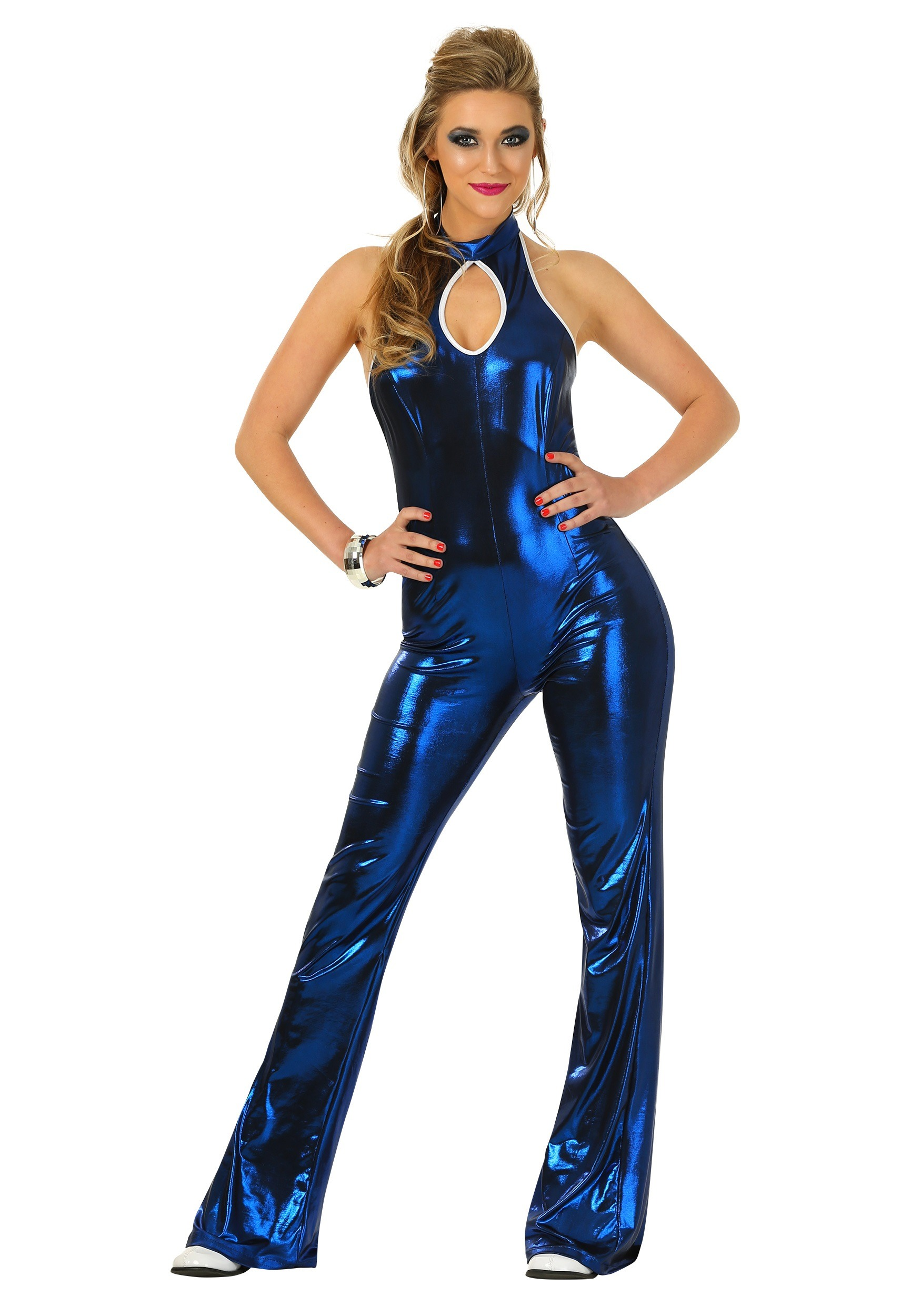 Womens 70 S Disco Fever Jumpsuit Costume