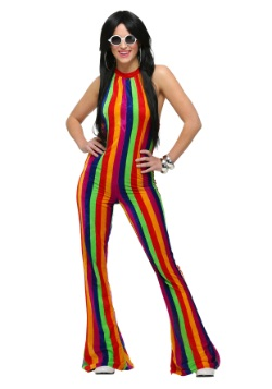 Womens 70's Disco Jumpsuit