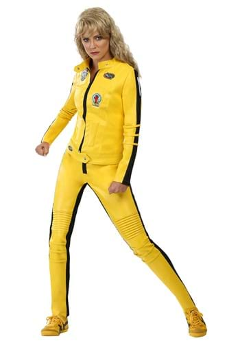 Click Here to buy Kill Bill Beatrix Kiddo Motorcycle Suit Womens Costume from HalloweenCostumes, CDN Funds & Shipping