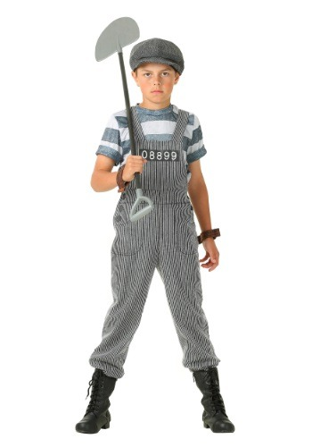 Boy's Chain Gang Prisoner Costume