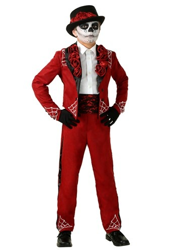 Click Here to buy Boys Day of the Dead Costume from HalloweenCostumes, CDN Funds & Shipping