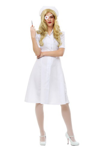 Click Here to buy Kill Bill Elle Driver Nurse Womens Costume from HalloweenCostumes, CDN Funds & Shipping