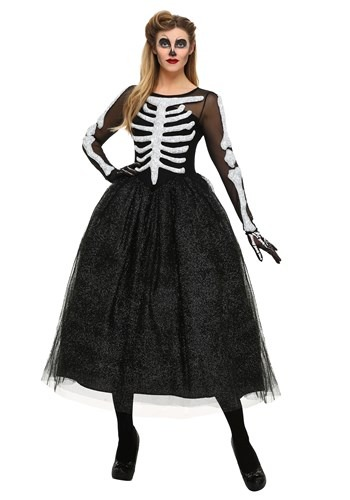 Click Here to buy Womens Skeleton Beauty Costume from HalloweenCostumes, CDN Funds & Shipping
