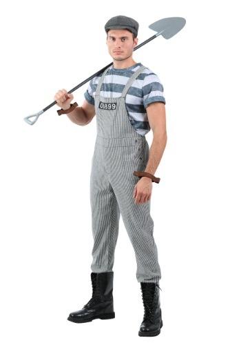 Men's Chain Gang Prisoner Plus Size Costume