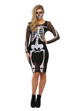 Mesh Skeleton Plus Size Dress