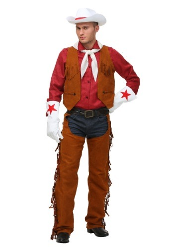 Click Here to buy Plus Size Adult Rodeo Cowboy Costume from HalloweenCostumes, CDN Funds & Shipping