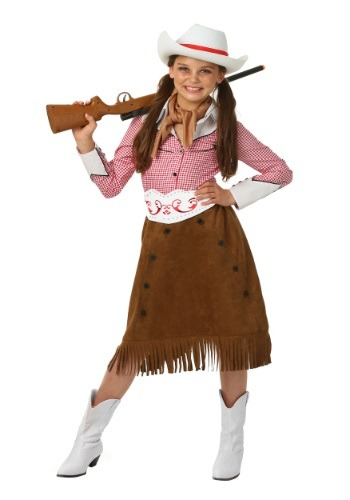 Click Here to buy Girls Rodeo Cowgirl Costume from HalloweenCostumes, CDN Funds & Shipping