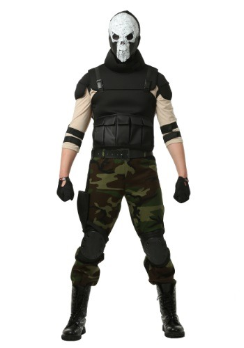 Click Here to buy Adult Skull Military Man Costume from HalloweenCostumes, CDN Funds & Shipping