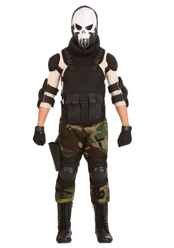 Click Here to buy Skull Military Man Boys Costume from HalloweenCostumes, CDN Funds & Shipping