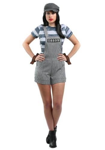 Plus Size Womens Chain Gang Prisoner Costume
