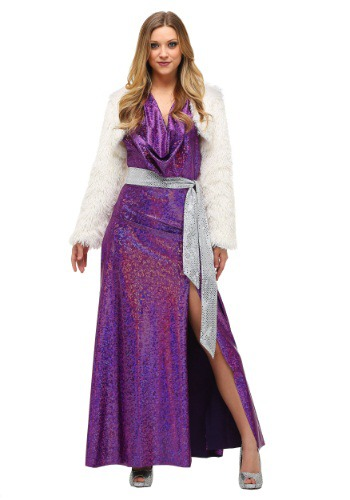 Womens Disco Ball Diva Costume Dress With accessories