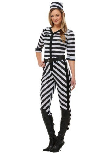 Click Here to buy Womens Jailbird Beauty Costume from HalloweenCostumes, CDN Funds & Shipping