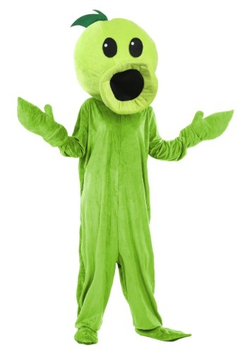 Click Here to buy Plants Vs Zombies Peashooter Costume for Adults from HalloweenCostumes, CDN Funds & Shipping