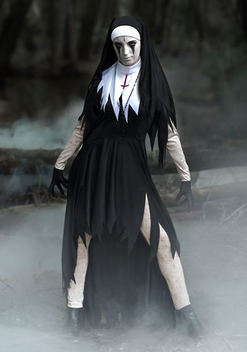 Womens Dreadful Nun Plus Size Costume