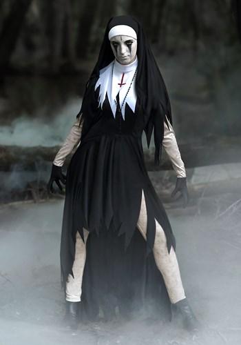 Womens Dreadful Nun Plus Size Costume