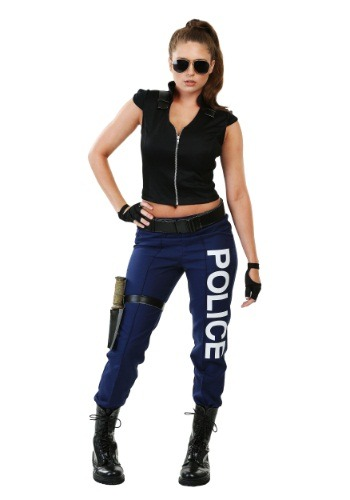 Click Here to buy Womens Tactical Police Plus Size Costume from HalloweenCostumes, CDN Funds & Shipping