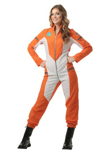 Click Here to buy Astronaut Jumpsuit Costume for Plus Size Women from HalloweenCostumes, CDN Funds & Shipping