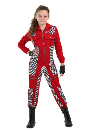 Click Here to buy Racer Jumpsuit Girls Costume from HalloweenCostumes, CDN Funds & Shipping