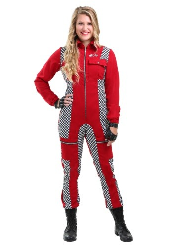 Click Here to buy Racer Jumpsuit Plus Size Womens Costume from HalloweenCostumes, CDN Funds & Shipping