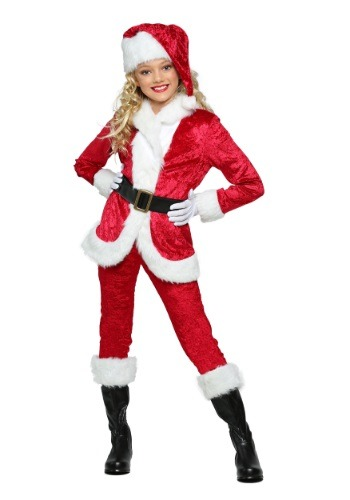 Click Here to buy Girls Sweet Santa Costume from HalloweenCostumes, CDN Funds & Shipping