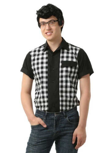 Click Here to buy Mens 50s Bowler Shirt from HalloweenCostumes, CDN Funds & Shipping