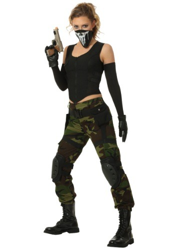 Click Here to buy Womens Fighting Soldier Costume from HalloweenCostumes, CDN Funds & Shipping