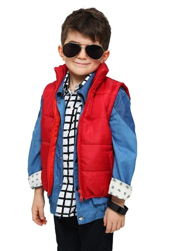 Click Here to buy Toddler Marty McFly Vest Costume from HalloweenCostumes, CDN Funds & Shipping