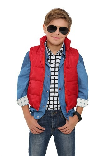 Click Here to buy Back to the Future Kids Marty McFly Vest Costume from HalloweenCostumes, CDN Funds & Shipping