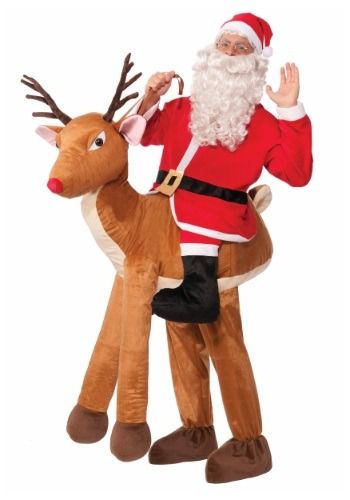 Click Here to buy Adult Ride a Reindeer Costume from HalloweenCostumes, CDN Funds & Shipping