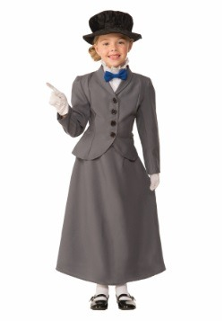 Child English Nanny Costume